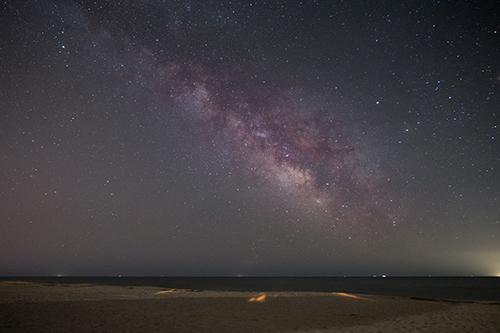 obx stargazing at night