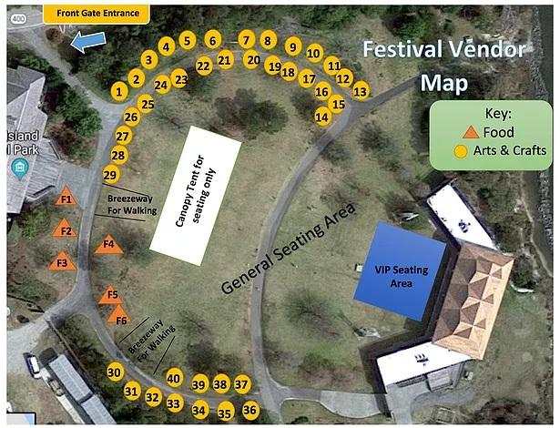 obx island bluegrass festival vendor map