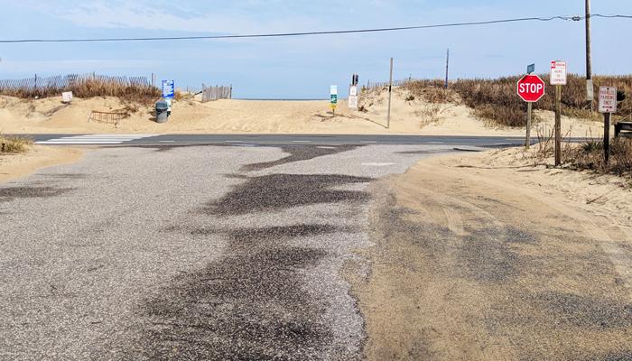 obx beach access parallel parking