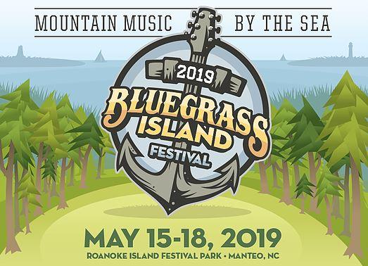 obx mountain music island bluegrass festival logo