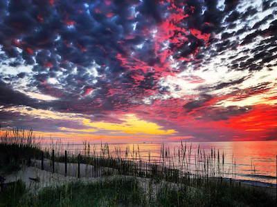 Sunset in Kitty Hawk, North Carolina