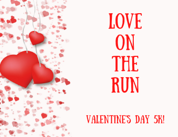 holiday, Valentine's Day, run, mile, race
