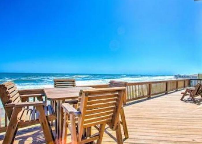 obx vacation rental deck