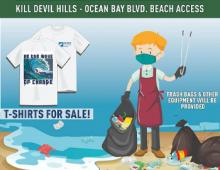 Kitty Hawk Kites & Surfrider Foundation Outer Banks Socially Distanced Beach Clean-Up