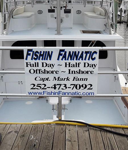 Fishin Fannatic Dock Sign