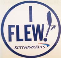 I Flew KHK Sticker