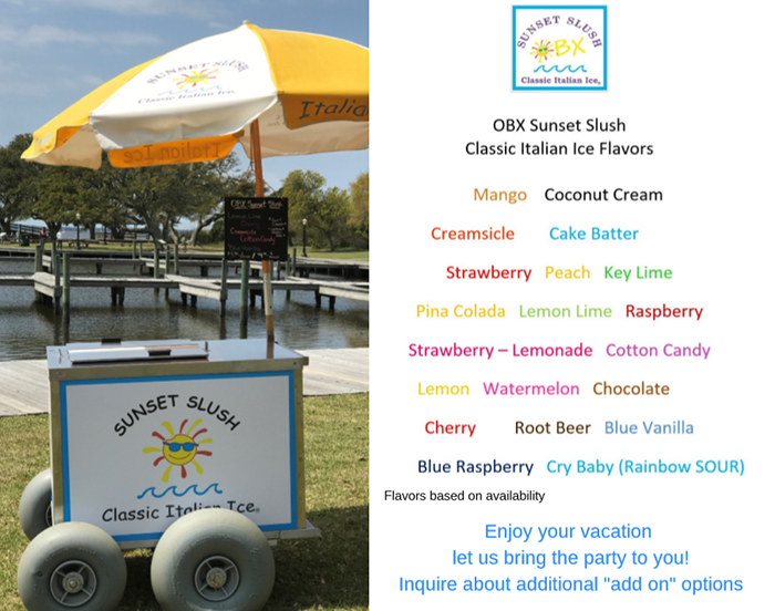 obx sunset slush flavors