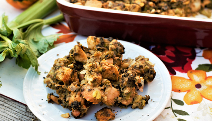 Oyster Stuffing by Kate at Mountain Cravings