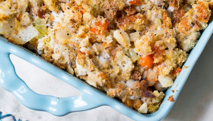Seafood Stuffing by Spicy Southern Kitchen