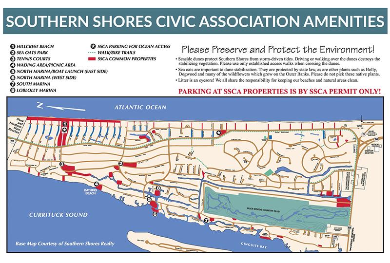 Southern Shores Civic Association Map
