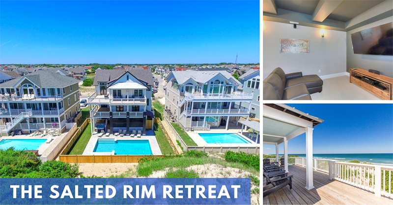 Seaside Vacations Homes w/ Theater Rooms - The Salted Rim Retreat