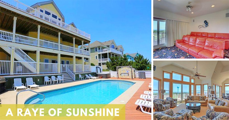 Seaside Vacations Homes w/ Theater Rooms - A Raye of Sunshine