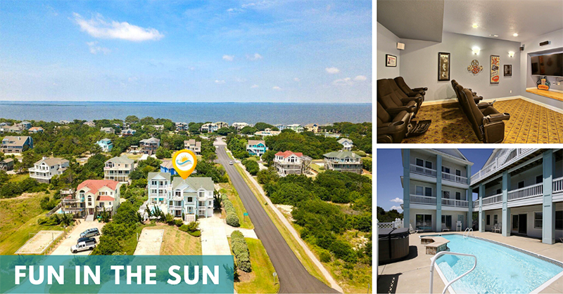 Seaside Vacations Homes w/ Theater Rooms - Fun In The Sun